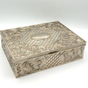 Large Vintage Godinger Silver Plated Jewelry Box